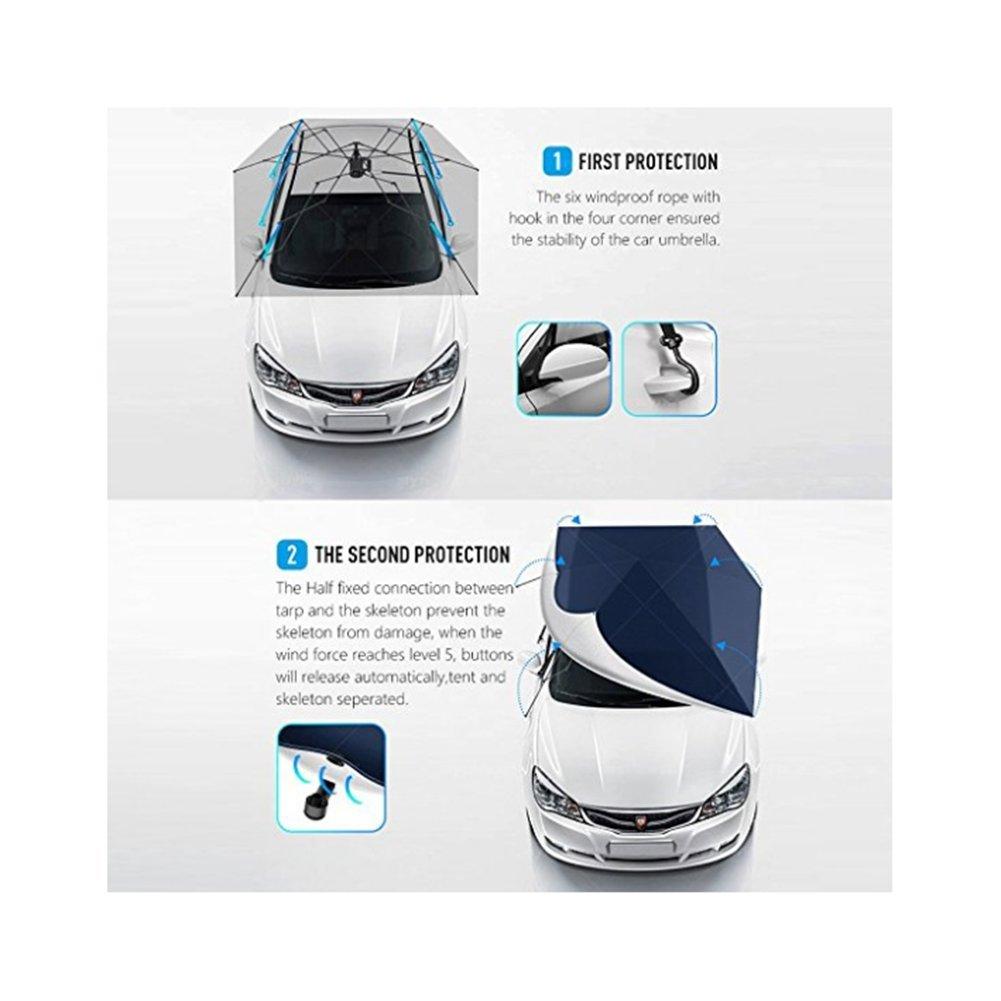 L&Z Carpa Para Automóvil, Plegado Automático, Con Control Remoto, Paraguas: Amazon.es: Deportes y aire libre