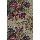Blazing Needles Tapestry Full Size Futon Cover in Rose Boquet - 8'' Full
