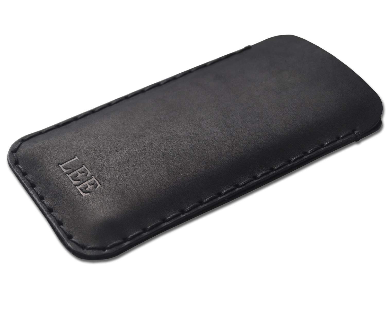 Housse en cuir pour iPhone 12 11 Pro Max XS XR X 8 7 plus 6 6s SE mini /Étui Personnalis/é Pochette Case Coque Cover Monogramme Inscrivez votre Nom ou Initiales