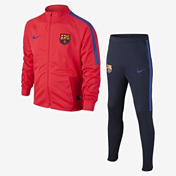 Nike FCB Y NK DRY TRK SUIT SQD K Tracksuit FC Barcelona for Unisex Children b9cc8b8003dd6