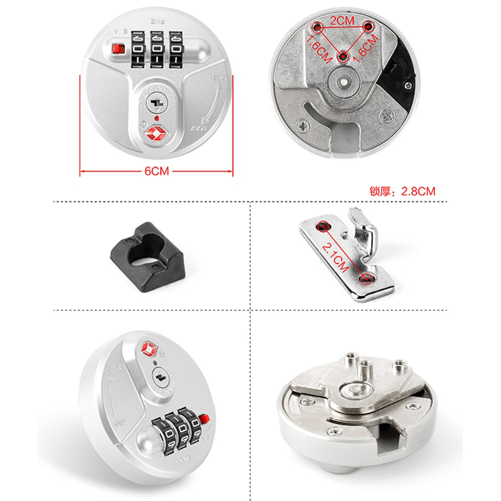 Set of A pair Circular Type YF Travel Luggage//suitcases Password lock Accessories parts S067