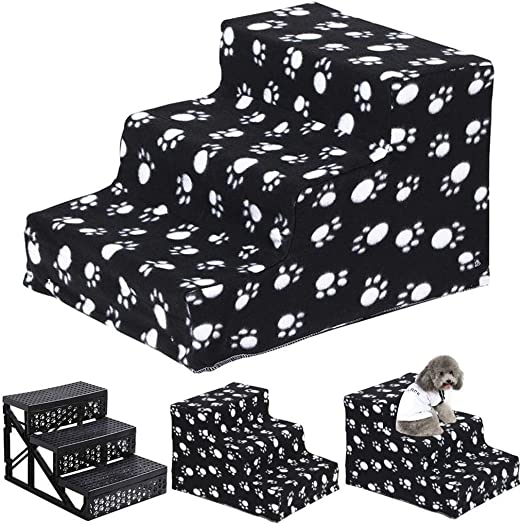 GLJJQMY Escalera para Mascotas Perro Gato Escalada Escalera Juguete para Mascotas 3 Pasos fáciles de Lavar 45X30X35 cm Escaleras de Mascotas: Amazon.es: Hogar