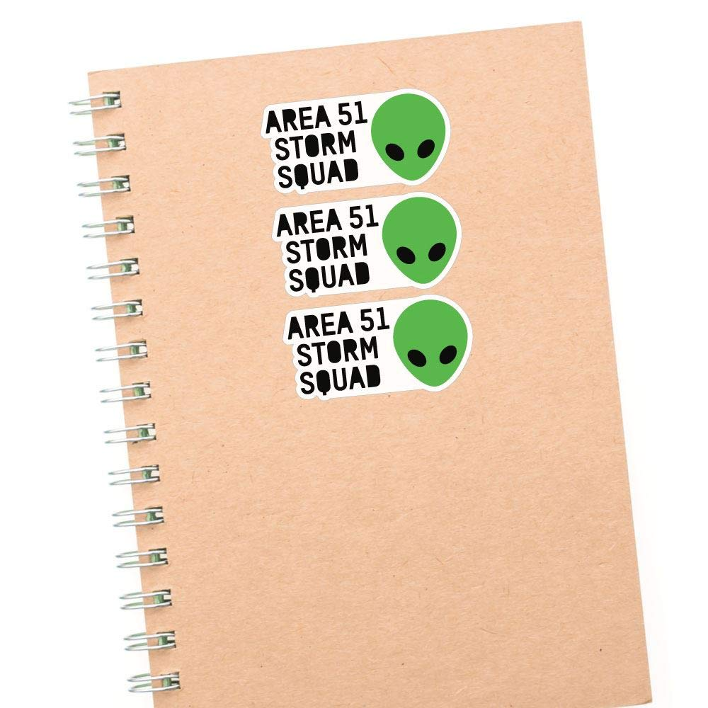 3X Storm Squad Area 51 Sticker Decal Ufo Area 51 Space Laptop Funny Et