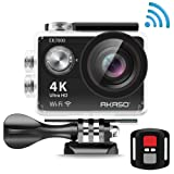 AKASO EK7000 4K Action Camera WIFI Ultra HD Waterproof Sports DV Camcorder 12MP, 2.4G Remote 2 Rechargeable Batteries, 170 Degree Wide Angle 2 inch LCD Screen (Manufacturer Refurbished )