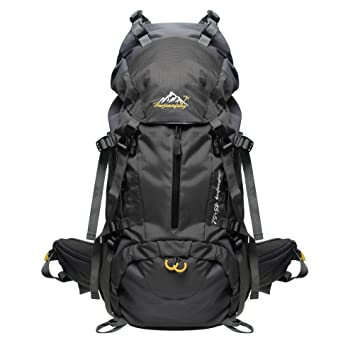 ... PioneerHiker 45L+5L Hiking Backpack Daypack with Waterproof Rain Cover  for Camping Travel Mountaineering Climbing  Travel Backpacks 50L ... dfa5f2dddb9a1