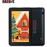 "Haehne 7"" Tablet PC - Google Android 9.0 HD Tablet, Quad Core 1G RAM 16GB ROM, Cámaras Duales, WiFi, Bluetooth, Negro"