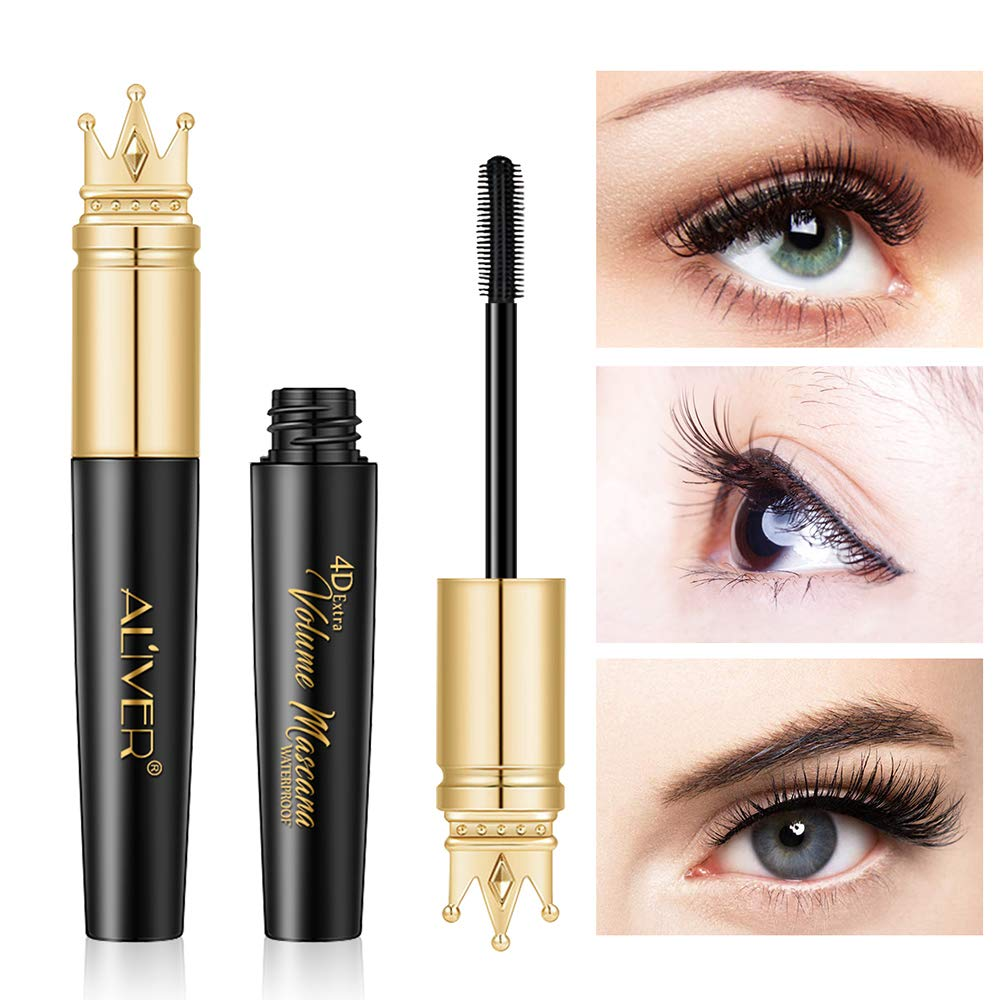 Aliver Natural 4D Silk Fiber Lash Mascara, Lengthening and Thick