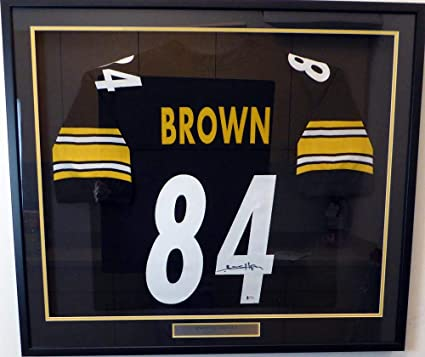 Antonio Brown Signed Jersey - Framed Black Beckett BAS Stock  130315 - Beckett  Authentication - 142868813