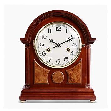 *reloj de mesa Relojes de mesa para sala de estar Decoración Dormitorio Escritorio Reloj Batería Manual Mecánico Mecanismo Retro Sin tictac Silencio Europeo ...