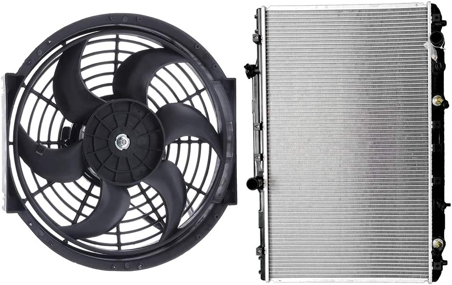 OCPTY 1xRadiator+1xRadiator Cooling Fan Replacement fits 1992-1996 Toyota Camry 2.2L