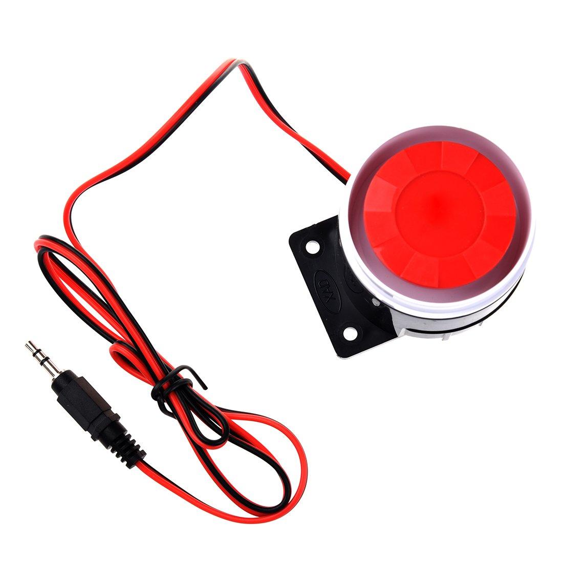 R SODIAL Mini Sirena con cable para sistema de alarma de seguridad de casa Sirena de bocina 120dB 12V