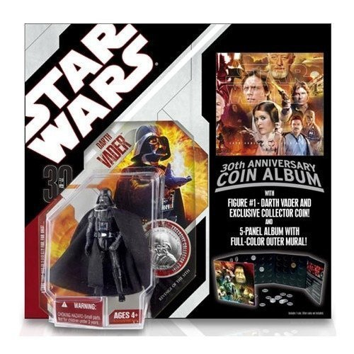 Star Wars 30th Anniversary Basic Figure Darth Vader with coin album