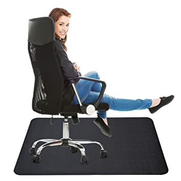 Sensational Office Chair Mat For Hard Floor 35X47 Inches Straight Edge Rectangular Sturdy Multi Purpose Polyethylene Desk Mat For Home Office Floor Protection Download Free Architecture Designs Grimeyleaguecom