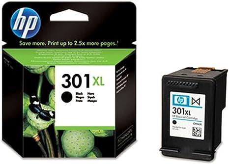 HP 301XL Black Ink Cartridge - Cartucho de Tinta para impresoras ...
