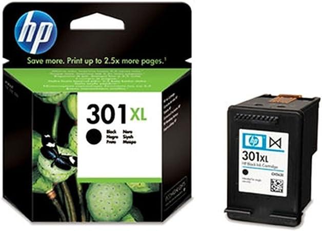 Comprar HP 301XL Black Ink Cartridge - Cartucho de Tinta para impresoras (Negro, Negro, Inyección de Tinta, 20-80%, -40-60 °C, 15-32 °C) No