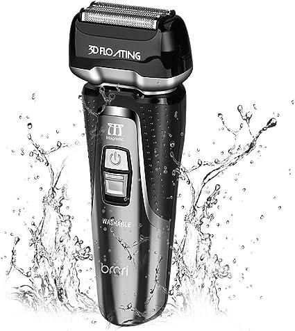 INSMART afeitadora eléctrica para hombres, resistente al agua ...