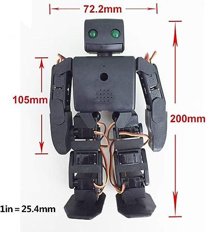 HARLT Robot humanoide Kit Plen2 para la Impresora 3D de código Abierto Arduino plen 2 para el Control de WiFi Juguete Modelo de enseñanza de Bricolaje Robot graduación,Blanco: Amazon.es: Deportes y aire