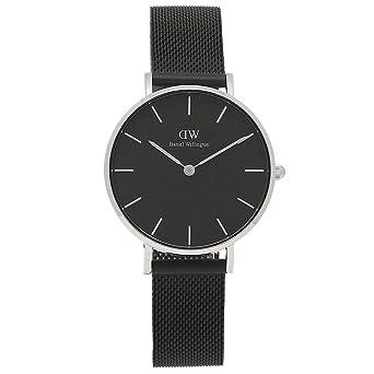 36e84ab86e72 [ダニエルウェリントン] 腕時計 レディース Daniel Wellington DW00100202 ブラック シルバー [並行輸入品]