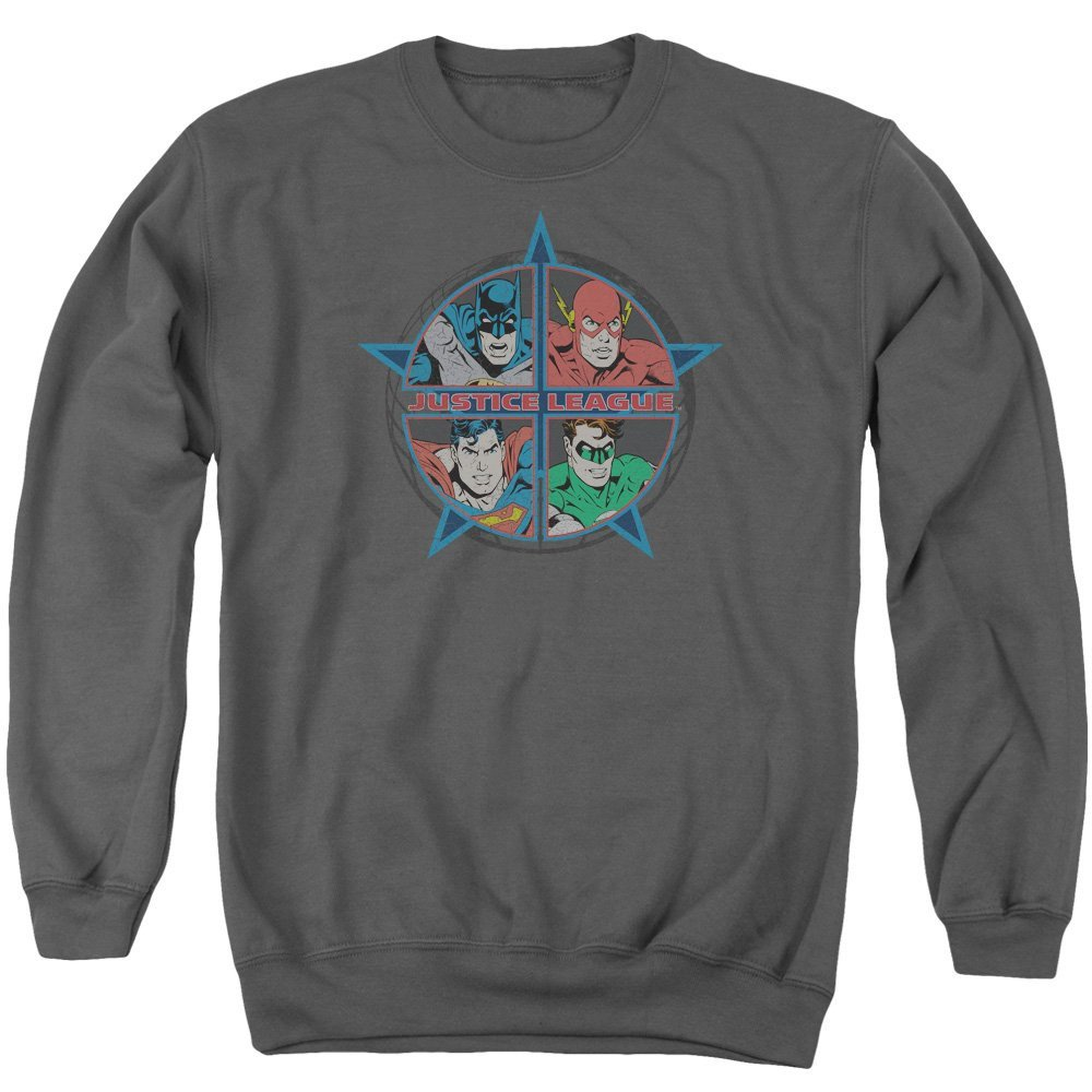 Four Heroes Adult Crewneck Sweatshirt Justice League of America