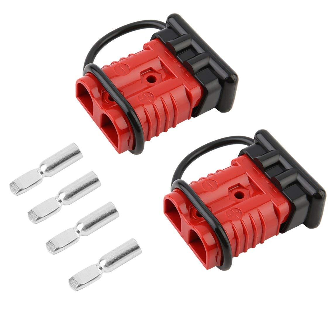 Mazur Anti-poussiè re Batterie 175A Quick Connect Plug Tool Outil de tré pan de ré cupé ration pour Trousse de Pilote 2-4 pour vé hicules remorques (Rouge et Noir)