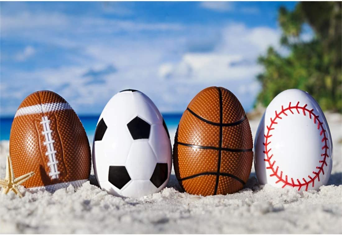 Yeele-Easter-Backdrop 10x8ft Easter Photography Background Sports Eggs Beach Football Soccer Basketball Seaside Photo Backdrops Pictures Studio Props Wallpaper
