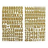 Darice 1219-37 220-Piece Glitter Alphabet Sticker, Upper and Lower Case Letters, Gold