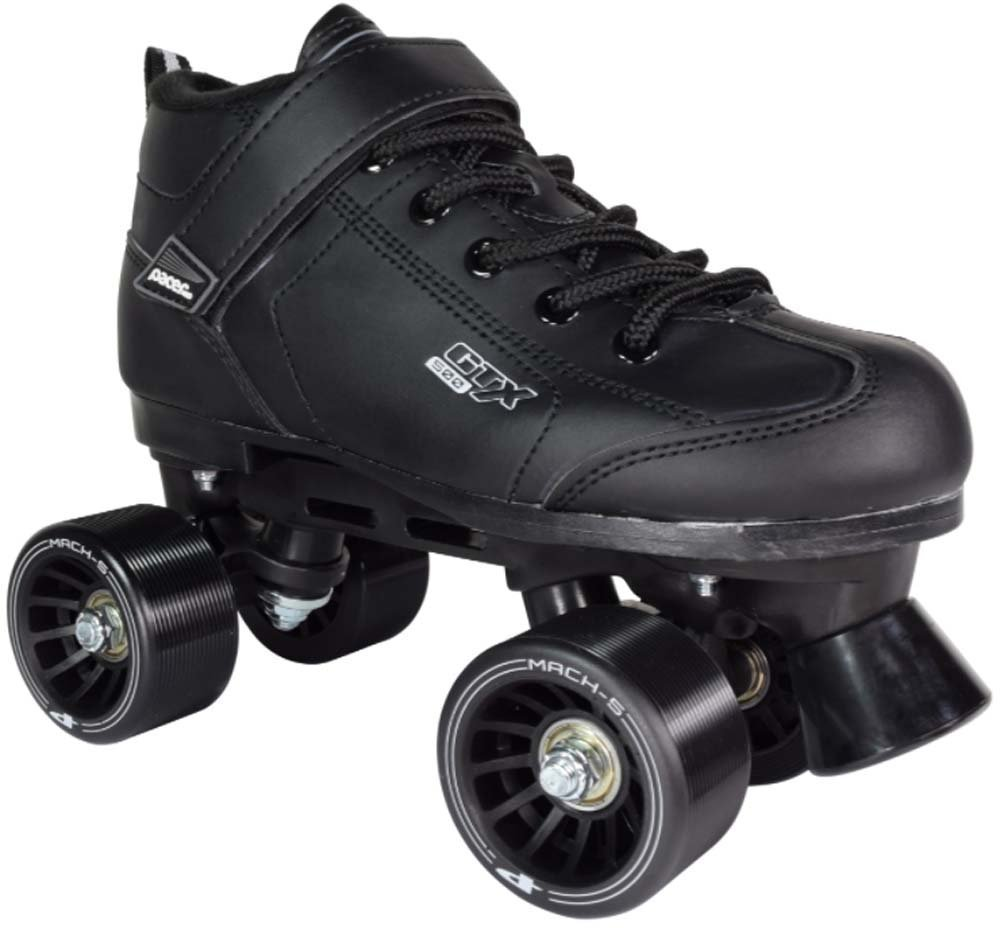 GTX-500 Roller Skates - Newly Revised Model (Black, Mens 7/Ladies 8)
