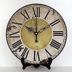Modern design roman number more quite table clock waterproof clock face living room decoration desktop clock