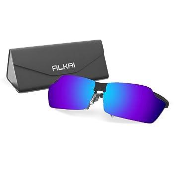 ALKAI gafas de sol polarizadas de deporte para hombre, 0.56 oz, garantizado ajuste y