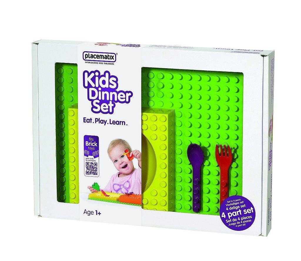 placematix Interlocking Kids Gift Box Set, Yellow/Red/Purple by Placematix