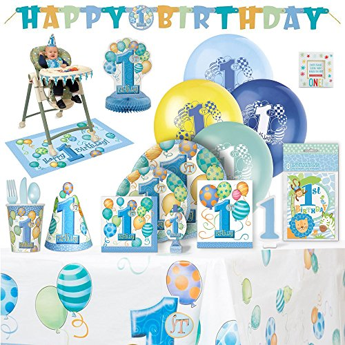 Baby's 1st Birthday Party Supplies Boy for 8
