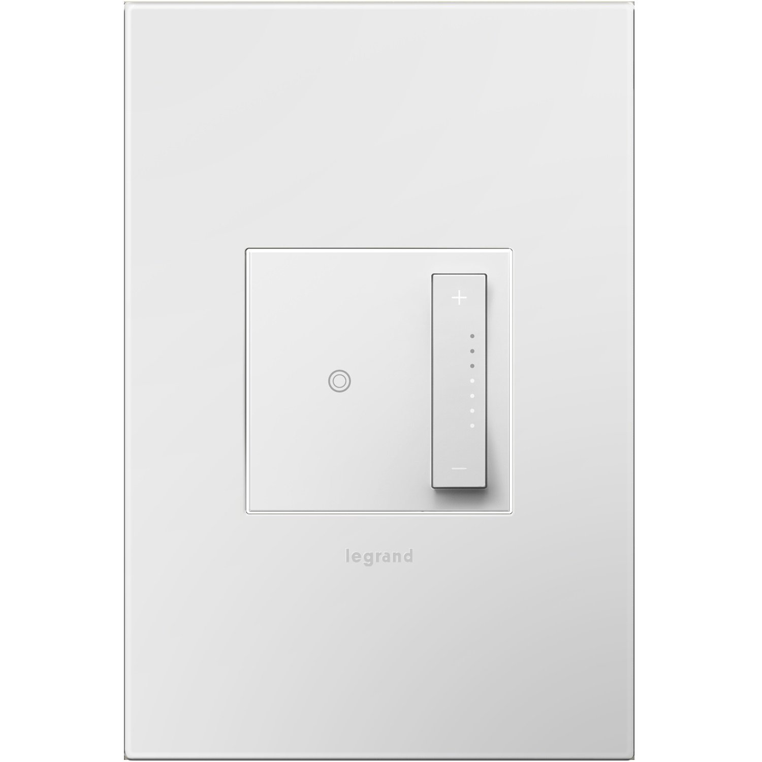 Legrand Adorne sofTap Tru-Universal Dimmer Switch, 700W (Incandescent, Halogen, MLV, Fluorescent, ELV, CFL, LED), White Finish, Wall Plate Included, ADTP703TUW4