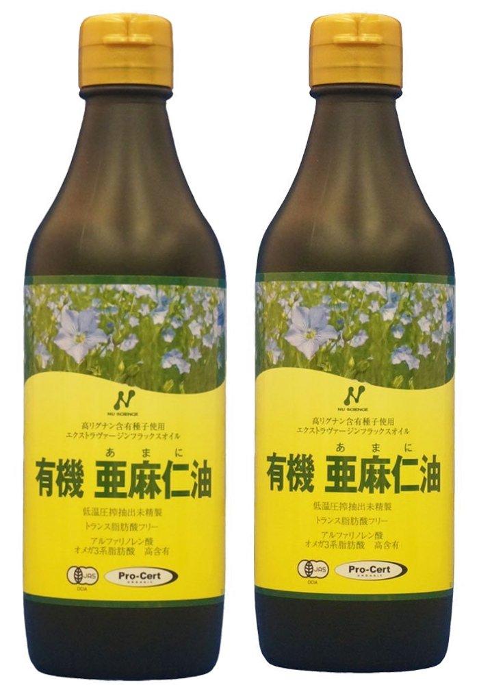 フラックスオイル亜麻仁油 2本セット ニューサイエンス製 B005PKRLG6