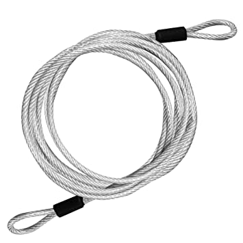 10ft Double Loop Cable Galvanized Vinyl-Coated Wire Rope, rope ...
