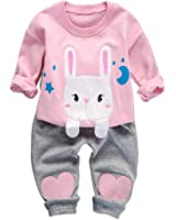 Baby Outfits Girls, BAOBAOLAI Toddler Girls Kids Cute Rabbit Clothing Set Long Sleeve Top with