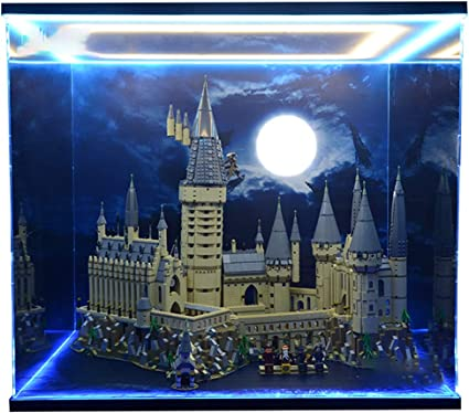 Mod/èle Pas Inclus Anti-Poussi/ère Vitrine de Pr/ésentation Display Case wangxike Vitrine Acrylique Compatible avec Lego 71043 Harry Potter Chteau De Hogwarts