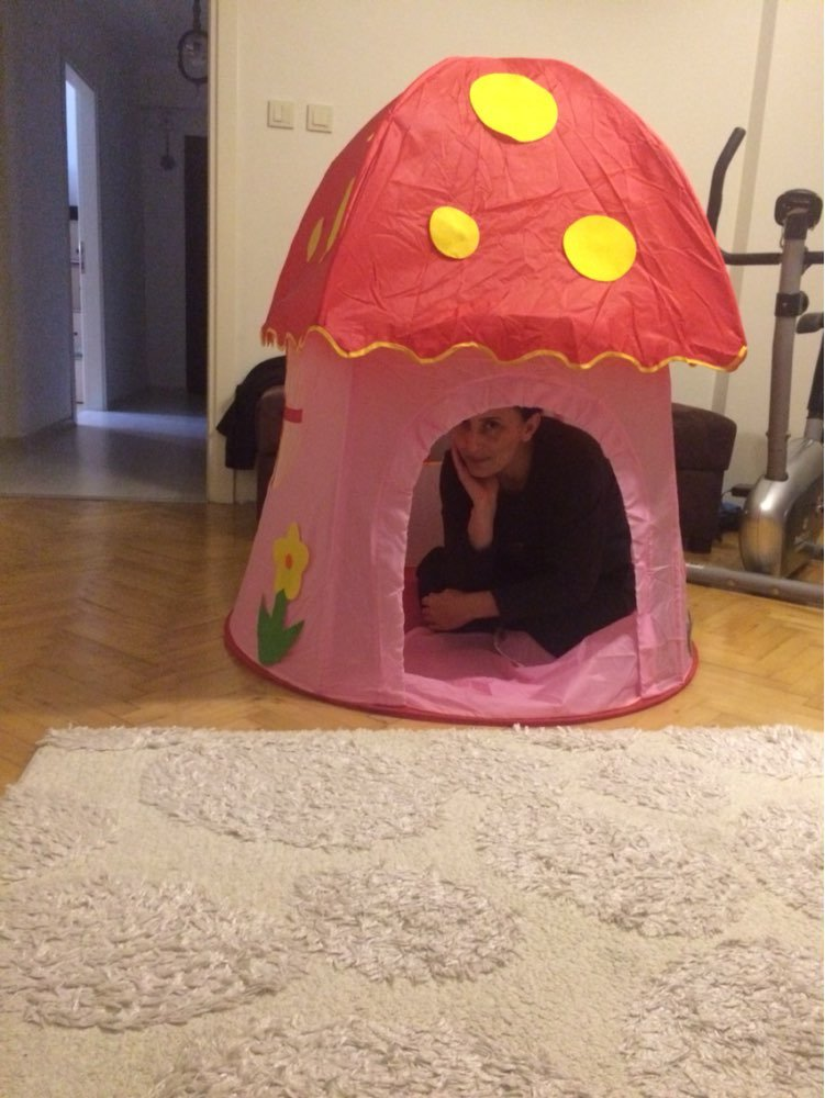 Princess Mushroom Playhouse Children Tent Game Room Baby Outdoor Toys Indoor House