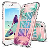 good vibes iphone6 case - iPhone 6s Case, iPhone 6 Clear Case, MOSNOVO Good Vibes Only Tropica Leaves Quotes Clear Design Transparent Plastic Hard Back Case Cover with TPU Bumper for iPhone 6 6s (4.7 Inch)