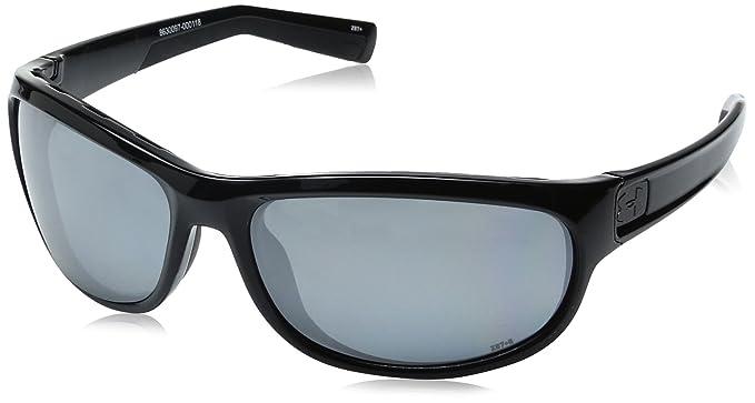 d107d70c8bb8 Under Armour Capture Oval Sunglasses (ANSI Shiny Black Frame/Gray Polarized  Lens/Chrome