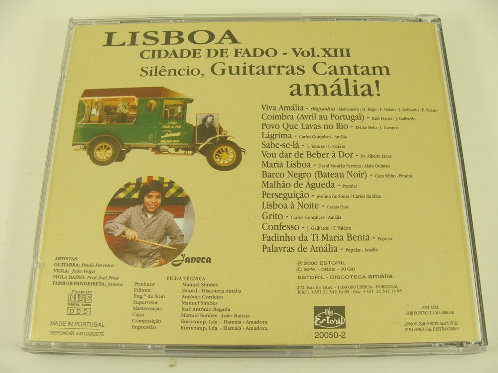 Paulo Parreira, Joao Veiga, Jodo Veiga, Janeca - Lisboa Cidade De Fado Vol. XIII - Silencio, Guitarras Cantam amalia! - Amazon.com Music