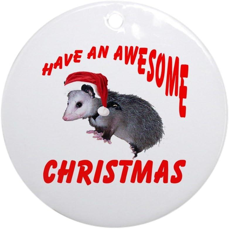 CafePress Santa Helper Possum Ornament (Round) Round Holiday Christmas Ornament