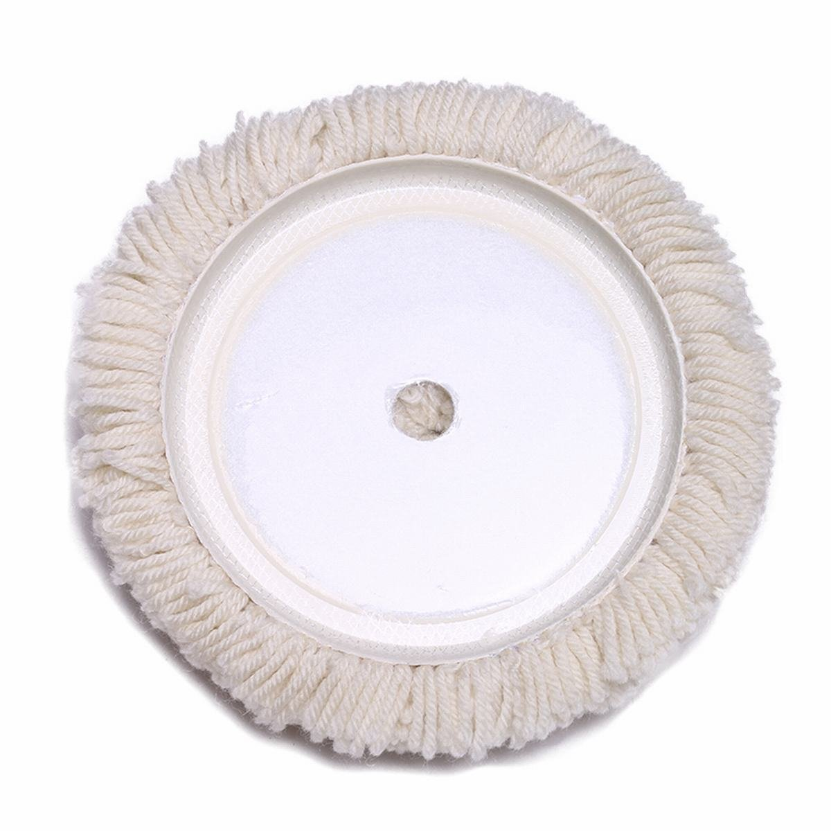 Gracefur Hook and Loop 100/% Wool Polishing Buffing Pad 7 Soft Reusable Single Sided Wool Cutting Pad for Compound Cutting /& Polishing Cream