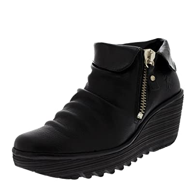 FLY London Leather Wedge Ankle Boots - Yoxi for sale cheap online sale low price fee shipping cheap sale pay with paypal cheap countdown package sale footaction UvHdG