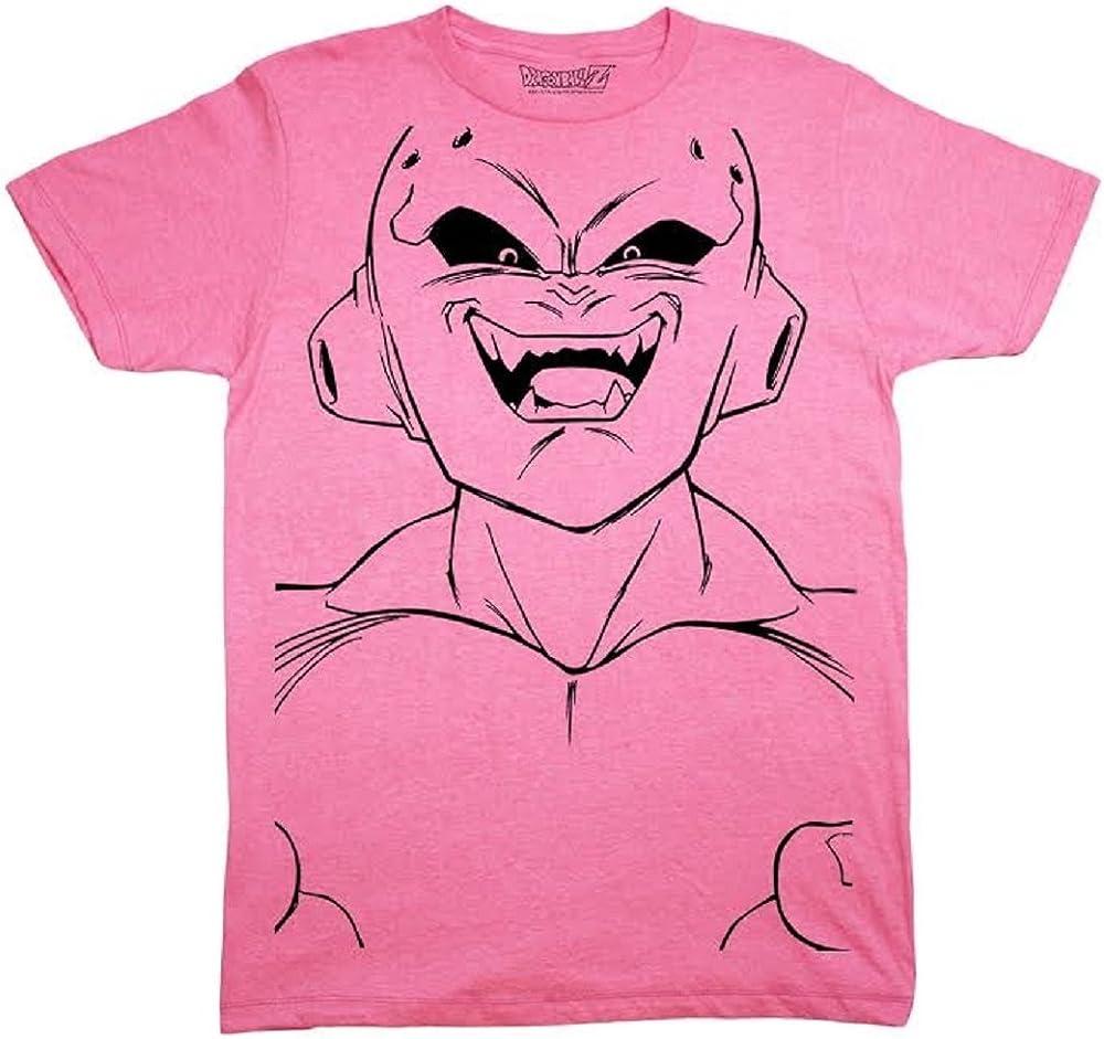 Dragon Ball Z Majin Buu Kid Buu Large Face Line Art Adult Shirts