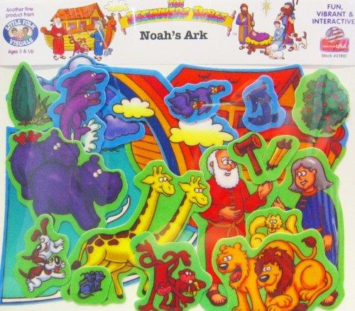 Little Folk Visuals Beginners Bible: Noah's Ark Precut Flannel/Felt Board Figures, 20 Pieces Set -