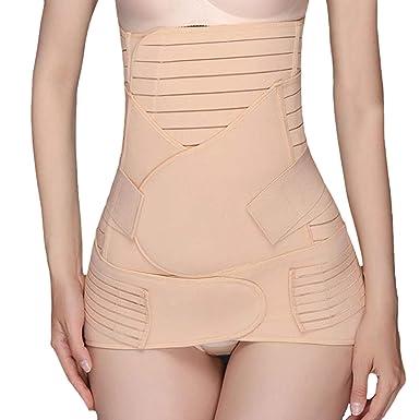 628afeedcc Defitshape Women s Postpartum Belly Wrap 3 in 1 Recovery Belly Wrap Waist Pelvis  Belt Apricot