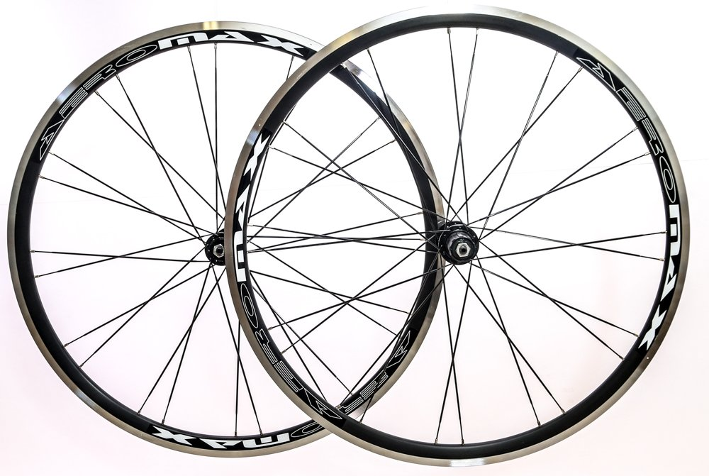 Amazon Com Aeromax Alloy Wheelset Road Bike Comp 700c Wheels