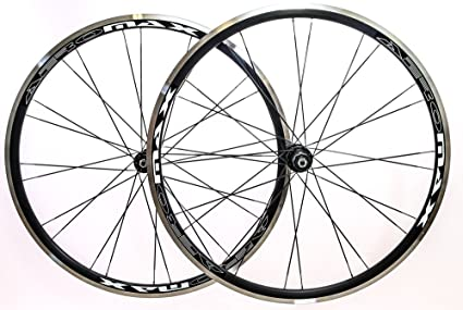 13dbcb0940c Image Unavailable. Image not available for. Color: Aeromax Alloy Wheelset  Road Bike Comp 700c Wheels