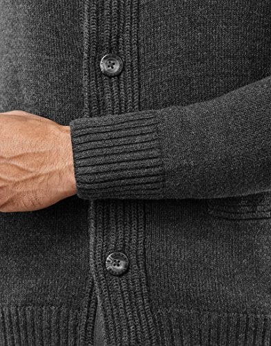 VB Cardigan en grosse maille, à col châle, coupe étroite,anthracite,XX-Large