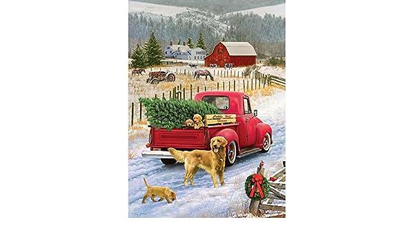Cobble Hill 51833 - G. Giordano: Christmas on the farm - puzzle 1000 piezas: Amazon.es: Juguetes y juegos